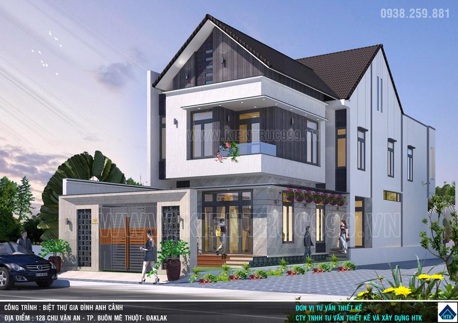 nhà đẹp 2 tầng bmt daklak 2021